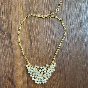 J. Crew gold chain pearl necklace